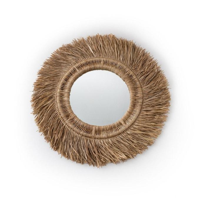 Miroir en rotin et sisal, Loully sur Ampm
