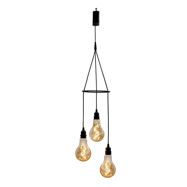 Suspension sans fil, 3 ampoules, Chiara - New Garden