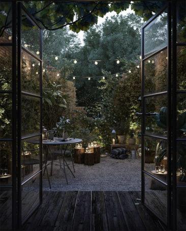 Penser l'aménagement extérieur pour la journée comme pour la nuit, pour l'été comme pour l'hiver // @lisadelladora
