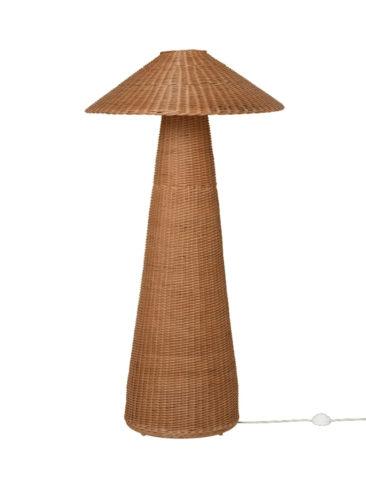 Catalogue Ferm Living SS2021 // Lampadaire en rotin surdimensionné, Dou Floor Lamp - 405 €