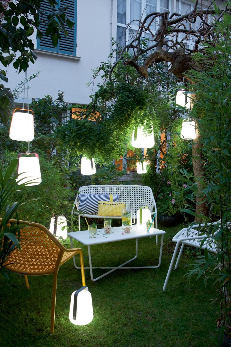 Lot de 6 lampes nomades LED d'extérieur H12cm, BALAD - Design : Tristan Lohner pour Fermob