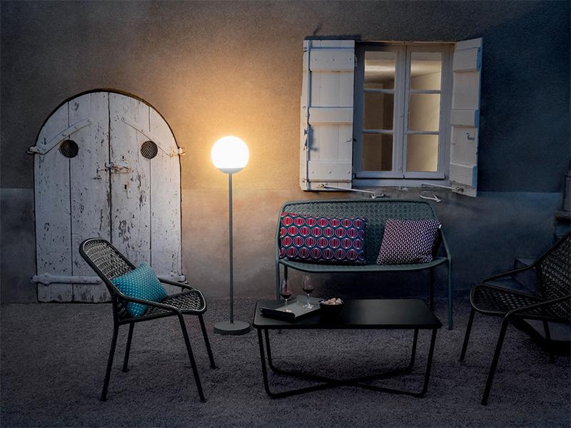 Lampadaire d'extérieur, H134cm sans fil avec bluetooth - Fermob