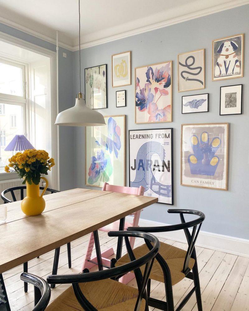 Pour un intérieur stylé, décorez vos murs de cadres ! // @londogmussehuset