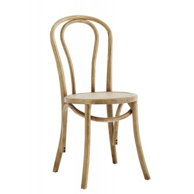 Chaise de bistrot en bois et rotin - Madam Stoltz