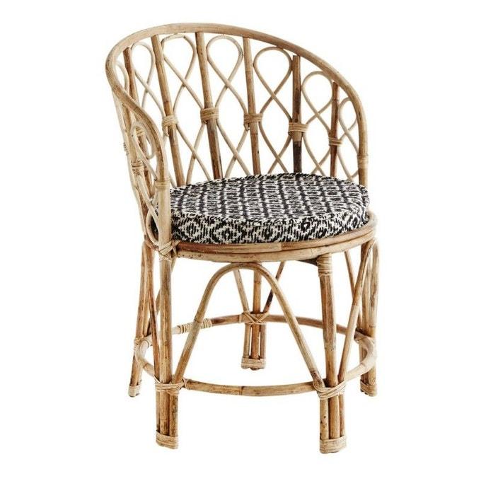 Chaise rétro en bois et bambou - Madam Stoltz