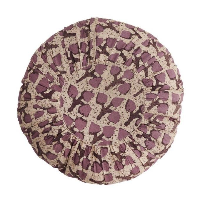 Coussin rond en coton plissé - Madam Stoltz