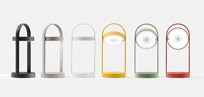 Lampe baladeuse d'extérieur LED rechargeable H33cm, GIRAVOLTA - Pedrali