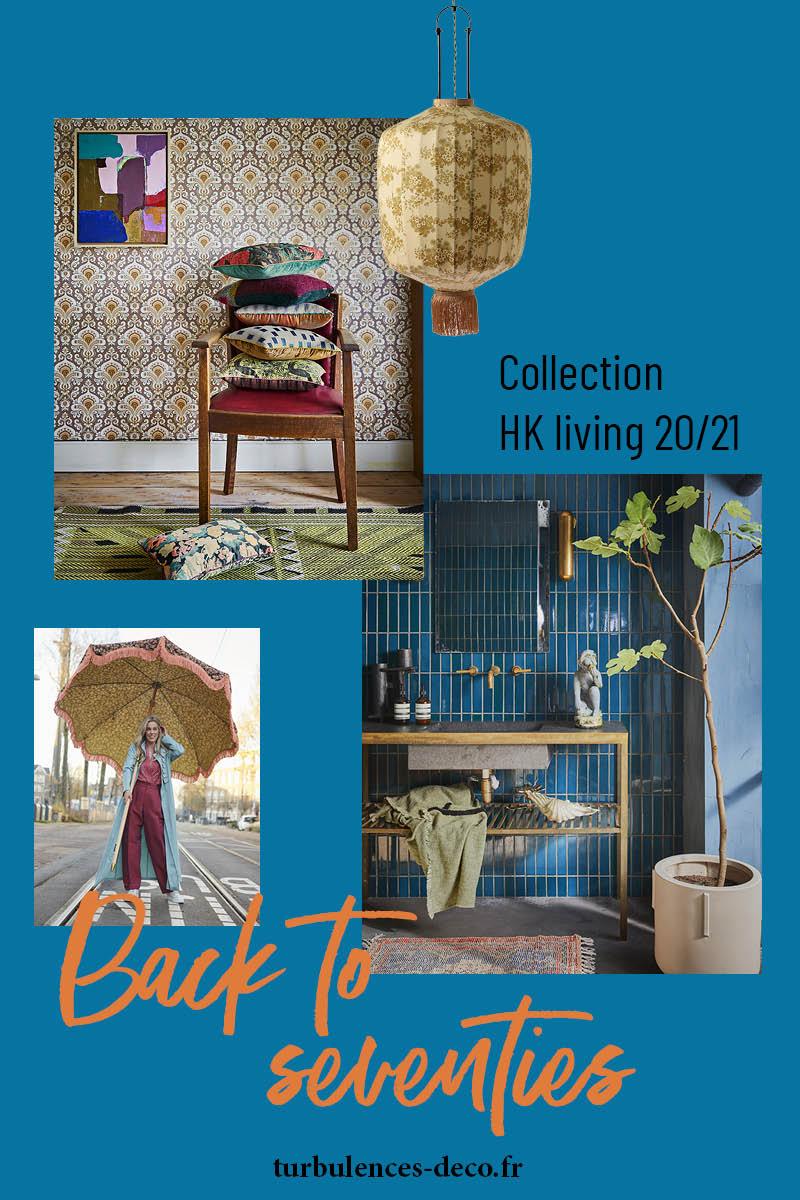 Back to seventies avec la collection HK Living 2020-21 à retrouver sur turbulences déco