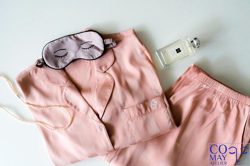 Set pyjama en soie pour femme sur la boutique Etsy Comay Atelier