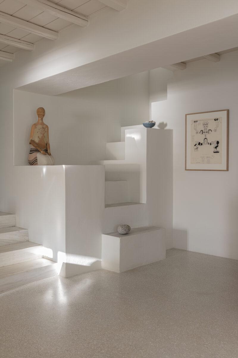 [ Décors des îles grecques ] Hôtel Papyrella à Mykonos // Escalier maçonné