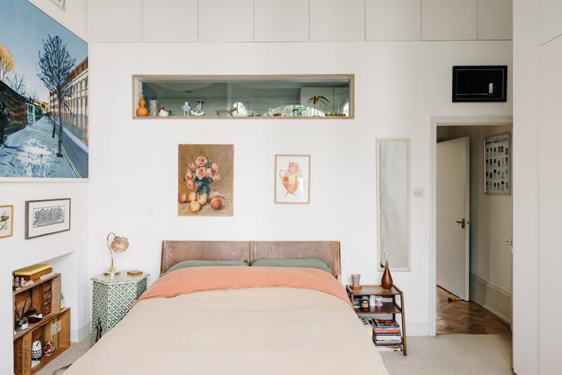 Chambre au mobilier vintage