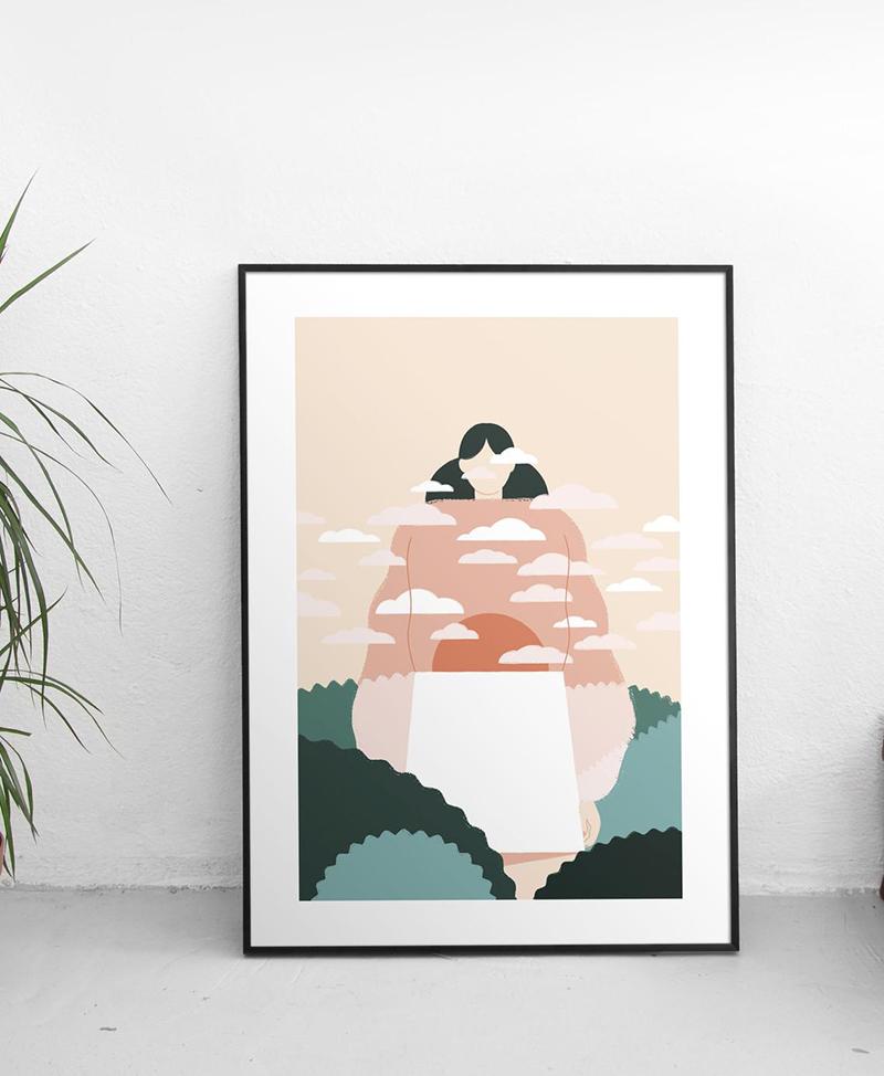 Illustration Les nuages par Solee Solas sur Etsy