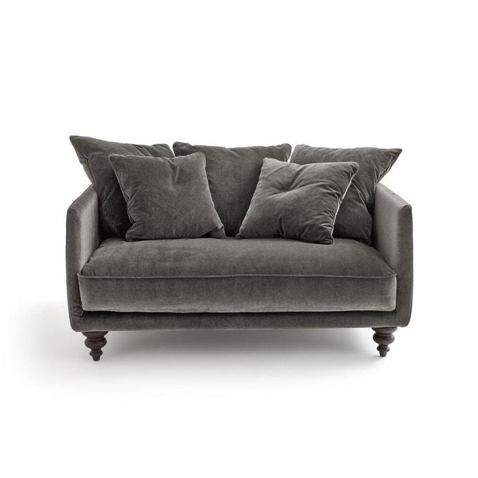 Canapé en velours gris taupe, Lazare sur Ampm
