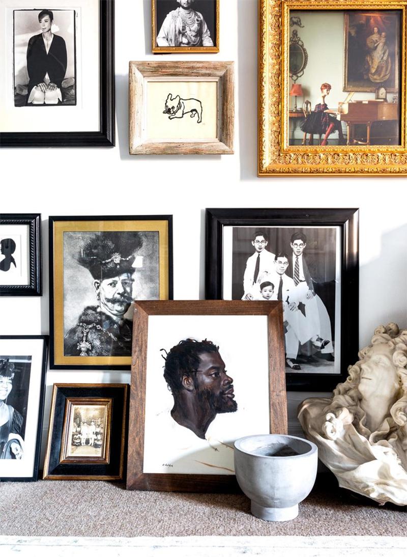 Rendre personnel un mur de cadres avec des œuvres qui vous parlent // L'intérieur de Marcus Teo sur themaryn.com