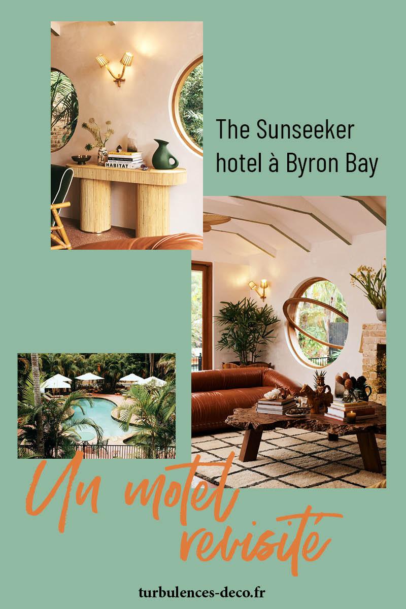 The Sunseeker, un hôtel vintage rétro à Byron Bay à retrouver sur Turbulences déco
