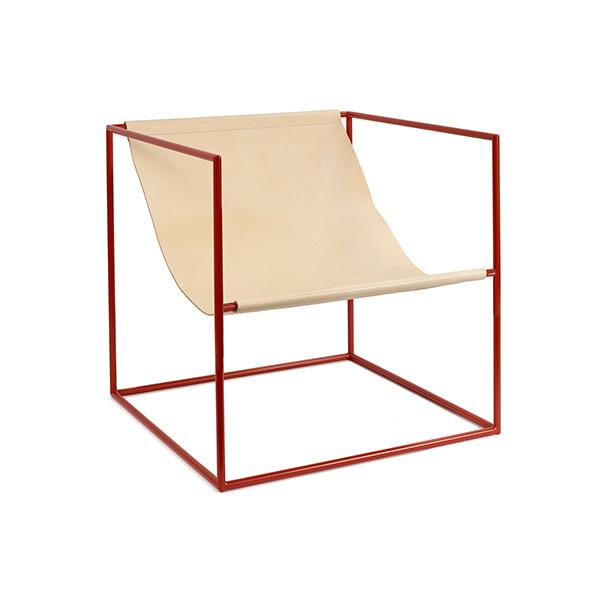 Fauteuil en cuir, Solo, Seat, design : Muller Van Severen pour Valerie Objects