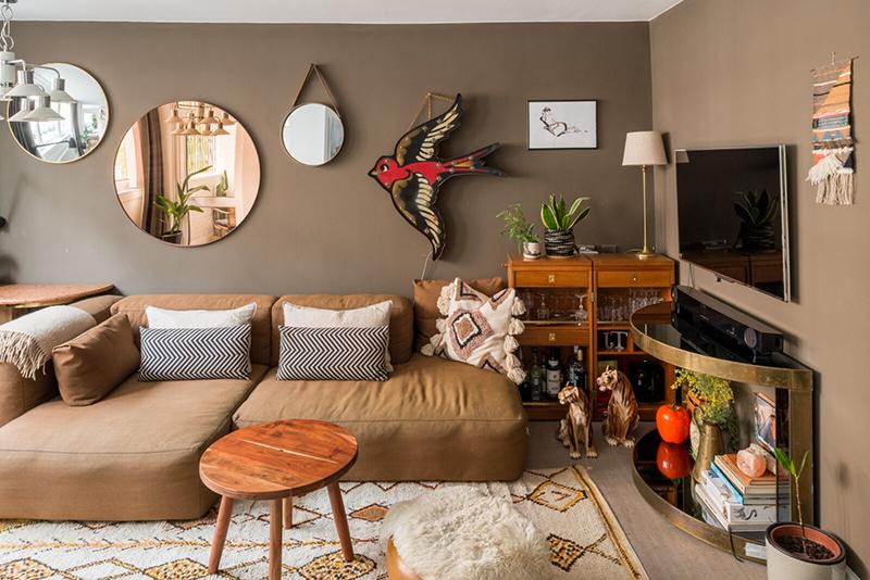 Un appartement bohème qui ose la couleur
