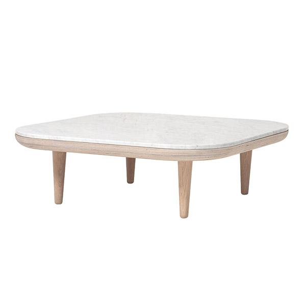 Table basse en marbre et chêne, FLY, design : Space Copenhagen pour &Tradition