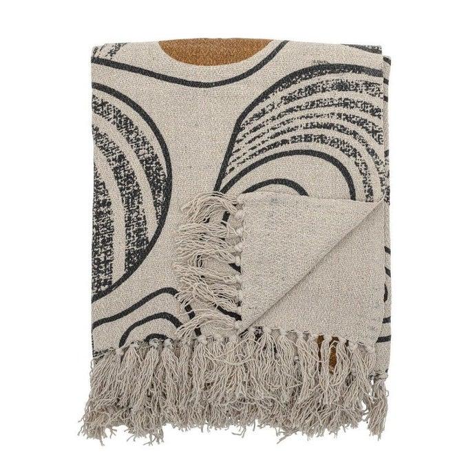 Plaid coton recyclé imprimé Giano - Bloomingville
