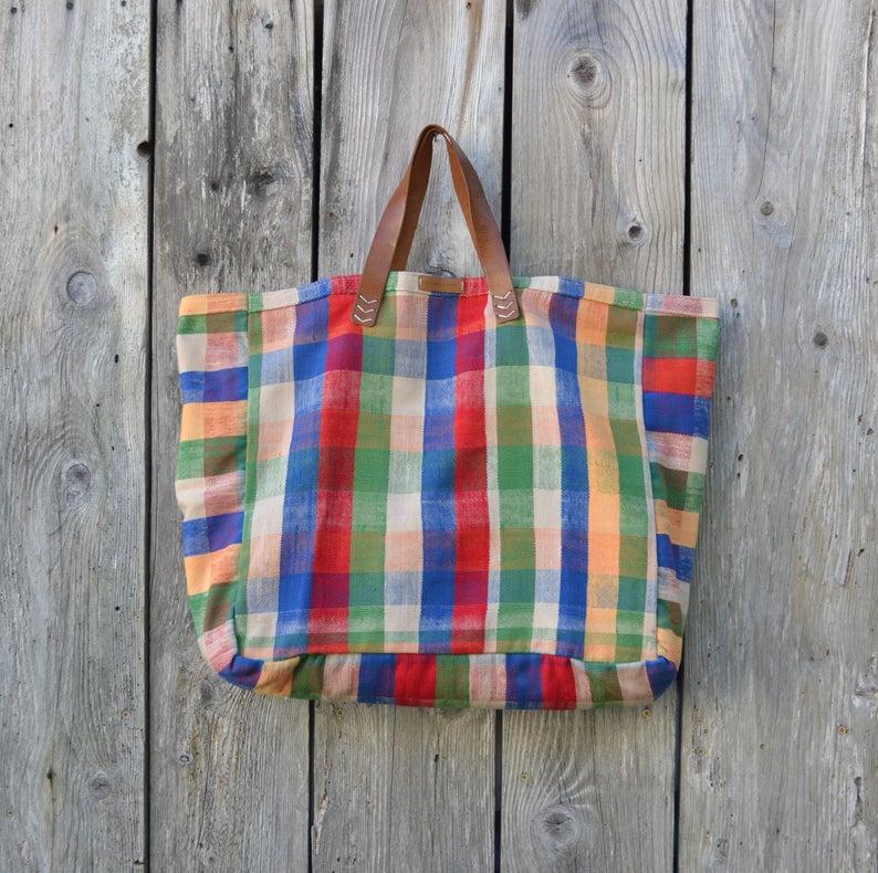 Sac cabas XXL en tissu berbère - Boutique Etsy La femme du tapissier
