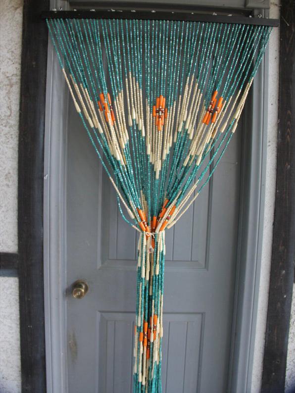 Rideau en perles de bambou teintées - Boutique Etsy Trendy Giftsinc
