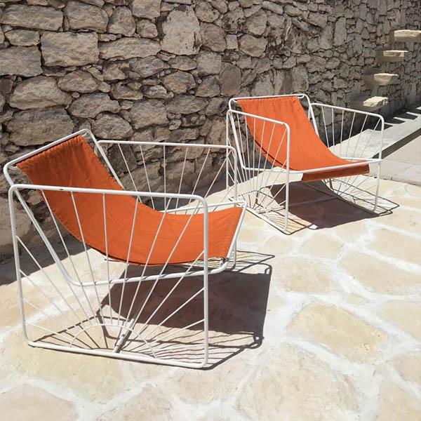 Fauteuil en toile, structure soleil, Eldorado - Honoré Design