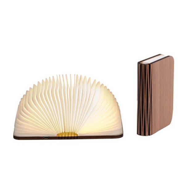 Lampe livre en bois noyer - La Chaise Longue