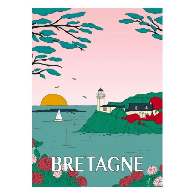 Affiche Bretagne - Maison Sarah Lavoine