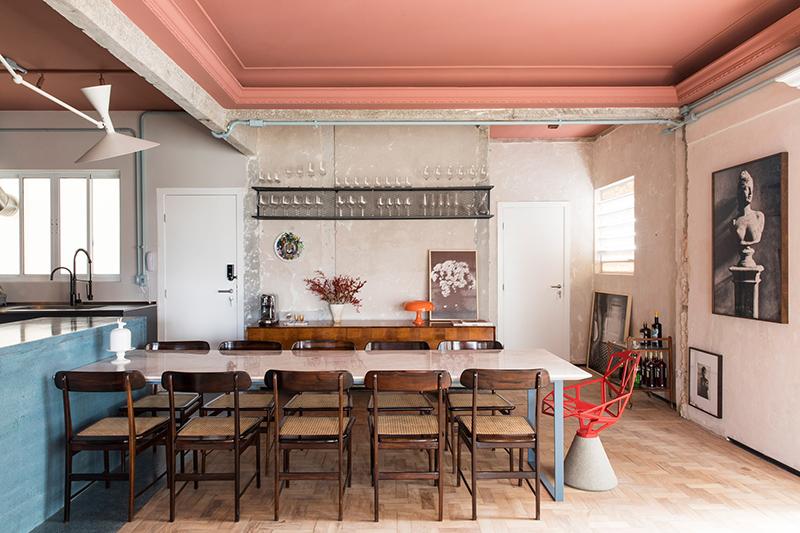 Désosser pour sublimer les couches structurelles - RF Apartement à à São Paulo par le studio Super Limão
