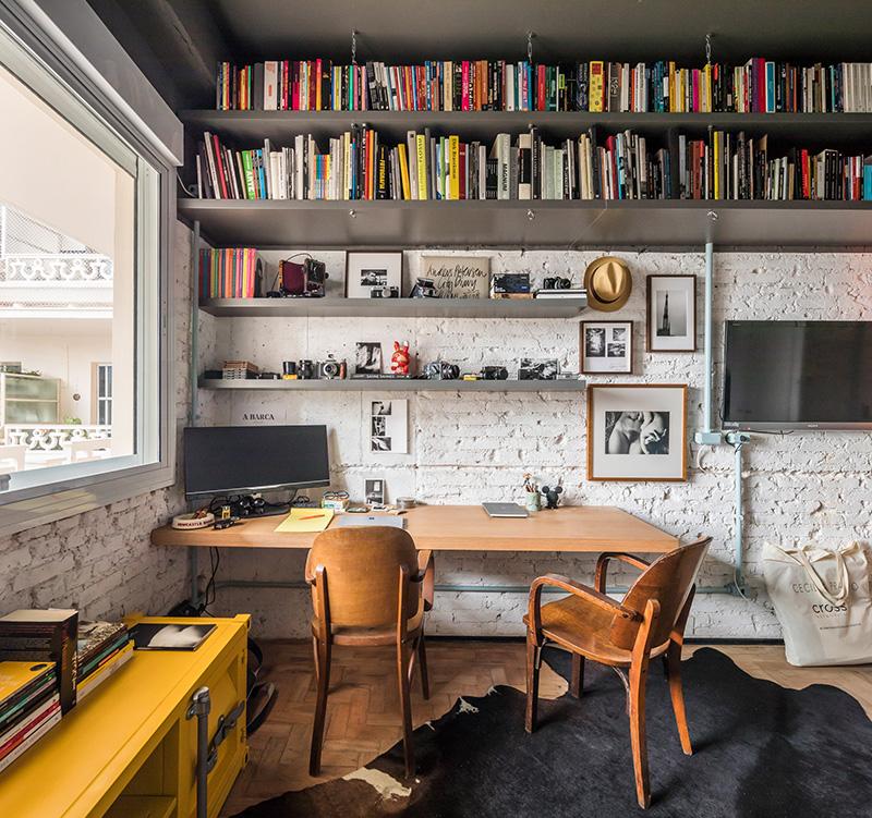 Coin bureau industriel vintage - RF Apartement à à São Paulo par le studio Super Limão