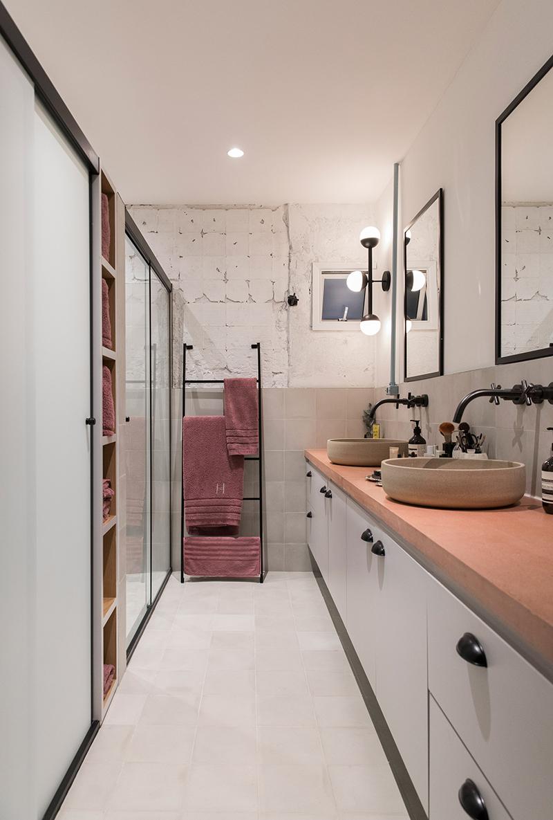 Salle de bains - RF Apartement à à São Paulo par le studio Super Limão