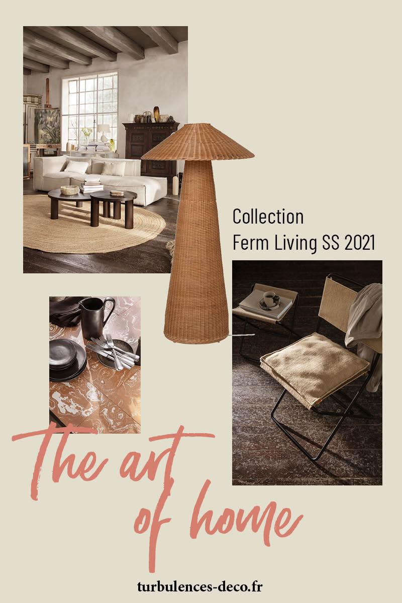 Découvrez le nouveau catalogue de Ferm Living SS2021, The art of home sur Turbulences Déco