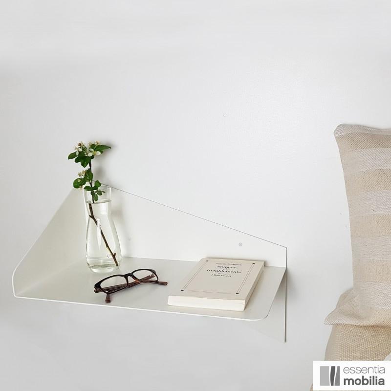 Table de chevet murale en métal, Envol sur essentia-mobilia.com