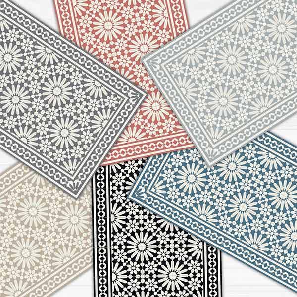 Tapis de sol en vinyle, motif zellige - Art Mat Home sur Etsy