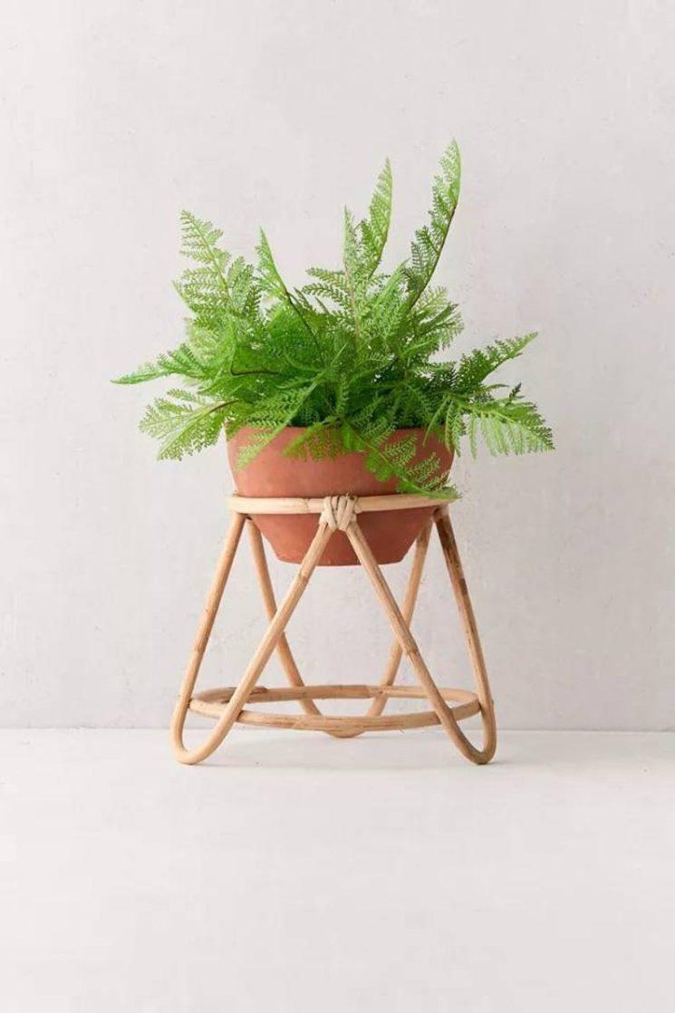 Support pour pot de fleurs en bambou, sur la boutique Etsy Bamboo Plus Wood