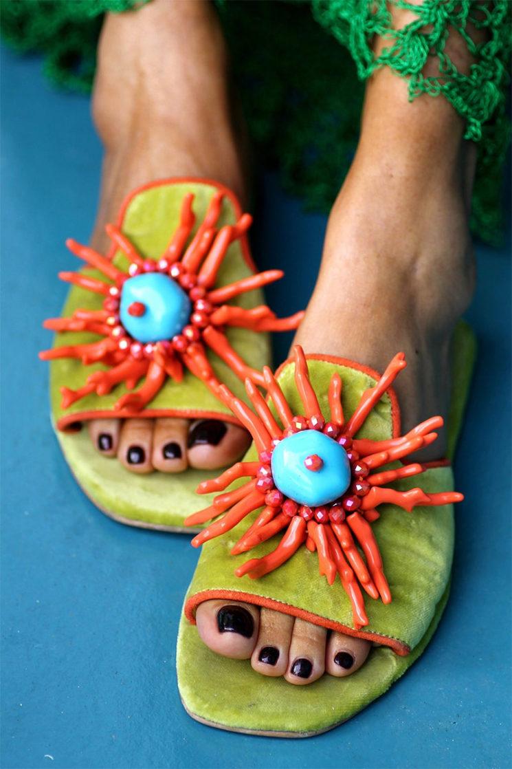 """ncroyables sandales """"Thalassa"""", faite à la main sur commande, sur la boutique Etsy Elina Linardaki"""