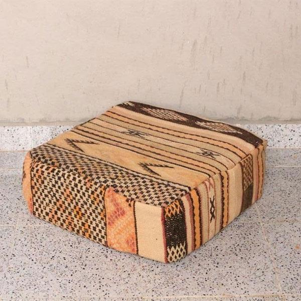 Pouf marocain en kilim vintage - Interior Artisanat sur Etsy