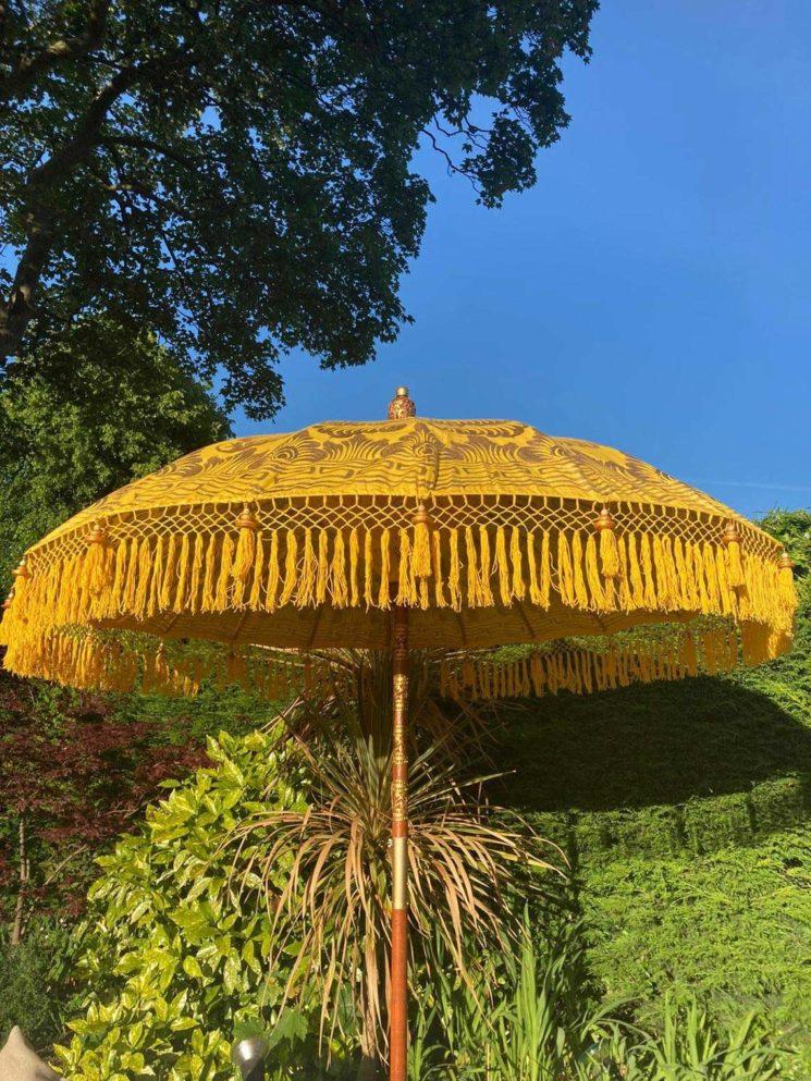 Parasol balinais, absolument bohème, surla boutique Etsy Sundown Parasol