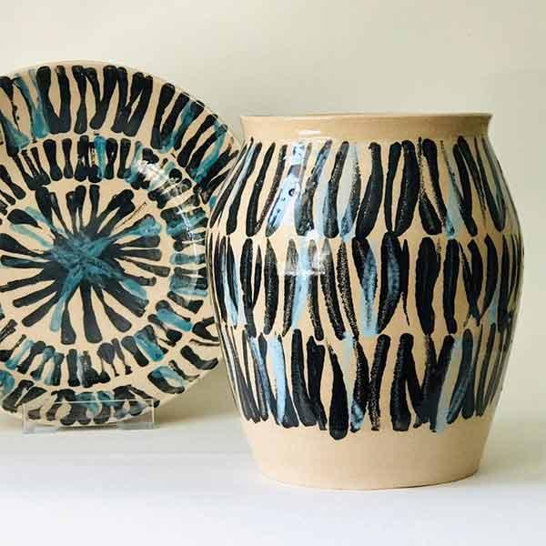 Vase tribal en céramique - Inluto sur Etsy