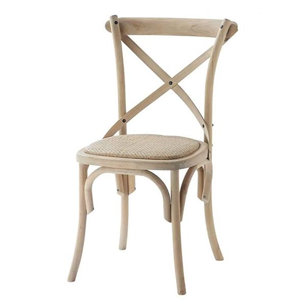 Chaise bistrot en rotin et bouleau, Tradition - Maisons du Monde