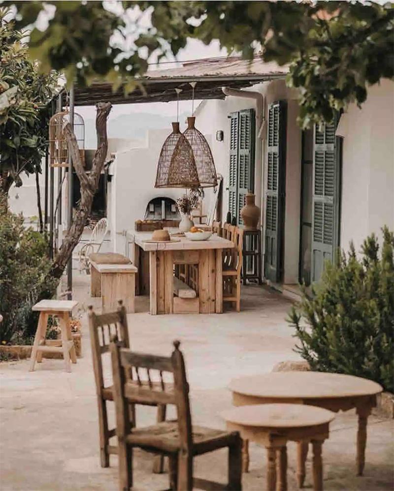 SA Caseta, une maison d'hôtes boho à Majorque // Terrasse extérieure