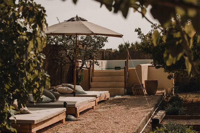 SA Caseta, une maison d'hôtes boho à Majorque // Le coin piscine