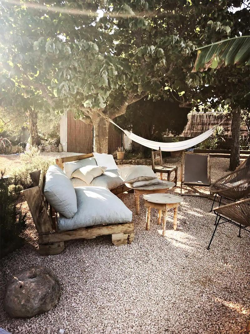 SA Caseta, une maison d'hôtes boho à Majorque // Des extérieurs en mode hippie chic pour chiller