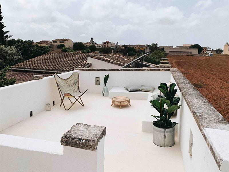 SA Caseta, une maison d'hôtes boho à Majorque // Terrasse de toit