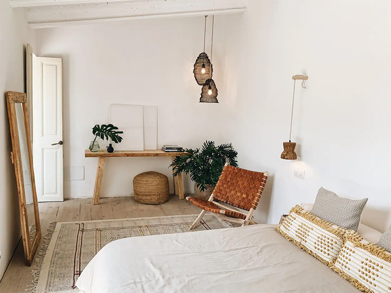 SA Caseta, une maison d'hôtes boho à Majorque // Chambre hippie chic