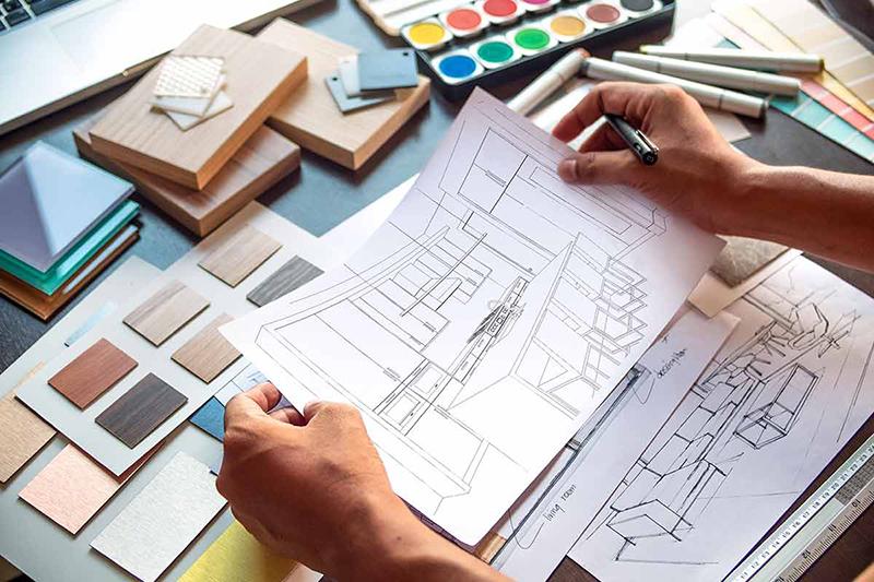 Penser sa cuisine passe par les couleurs, les matériaux et son agencement