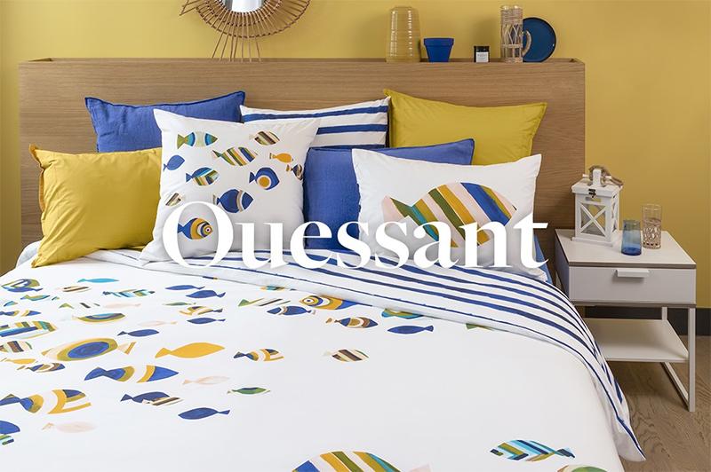 Collection Ouessant- Carré Blanc, des motifs et des couleurs à mixer à volonté pour un esprit moderne actuel