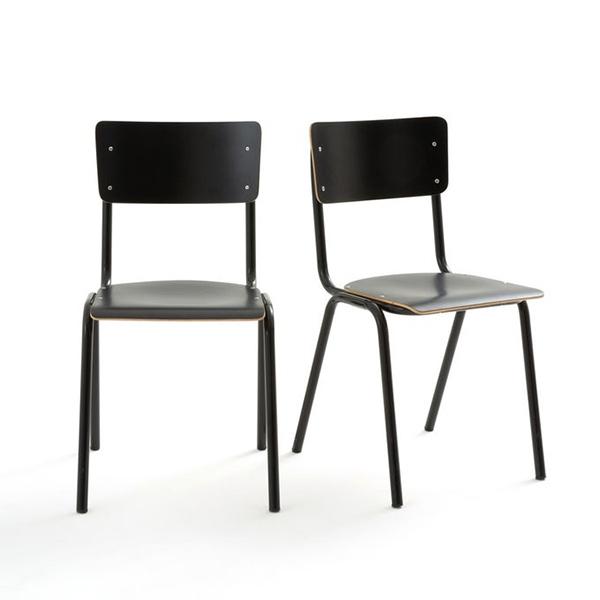 Chaises d'écolier empilables, Hiba sur La Redoute Intérieurs