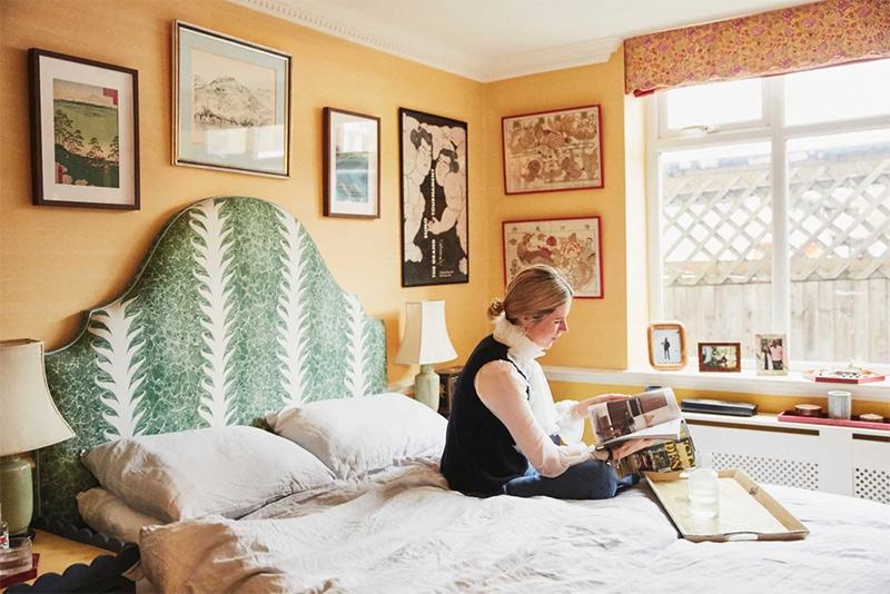 La montée du style Grandmillennial // L'intérieur d'India Holmes à Londres, directeur du design chez de Gournay