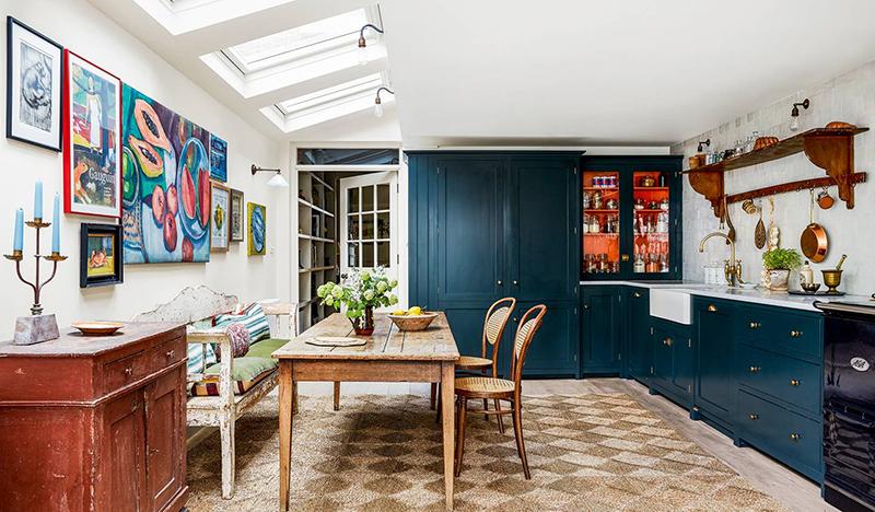 Le cottage londonien de Lonika Chandeun // Cuisine Devol